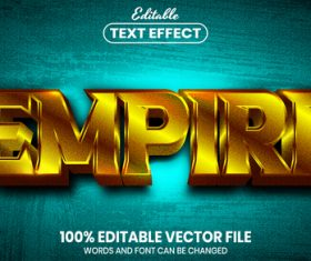 Empire text font style vector