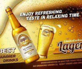 Enjoy the refreshing taste vector