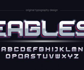 Ergles typography graphic style vector text effect