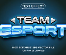 Esport text font style vector