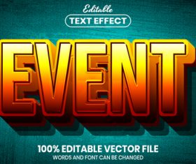 Event text font style vector