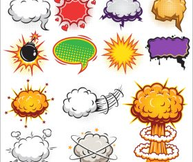 Explosion comic background vector