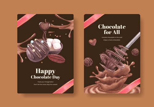 Exquisite food poster vector