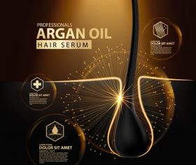 Extract argan oil essence ad template vector
