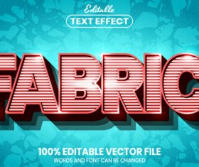 Fabric text font style vector