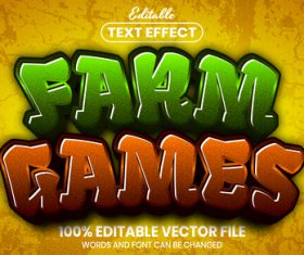Farm games text font style vector