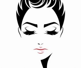 Fashion hairstyle girl vector