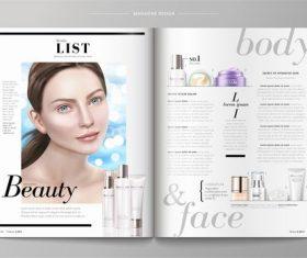 Fashion magazine vector