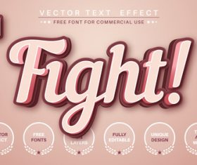 Fight vector text effect