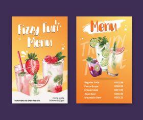 Fizzy fun menu vector