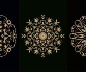 Flower pattern mandala ornament vector