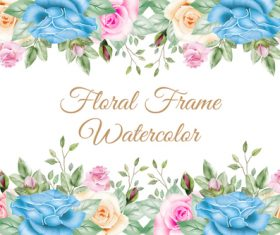 Flower watercolor painting vector background