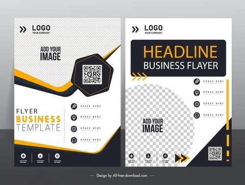 Flyer business template vector