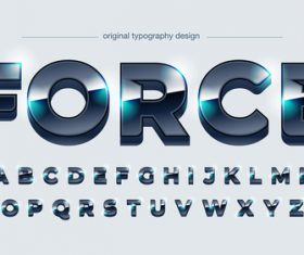 Force typography graphic style vector text effect