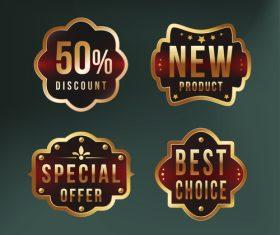 Four sale tags vector