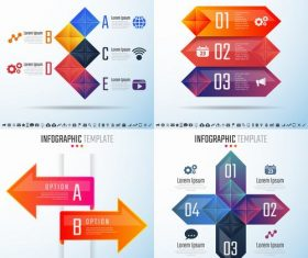 Four styles infographic vector