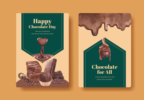 Fragrant chocolate flyer vector