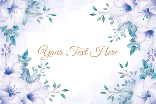 Frame vector background watercolor