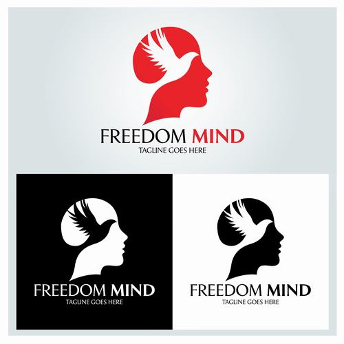 Freedom mind beauty salon logo vector