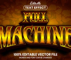 Full machine text font style vector