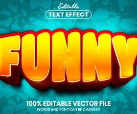 Funny text font style vector