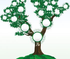 Geneaologic tree vector