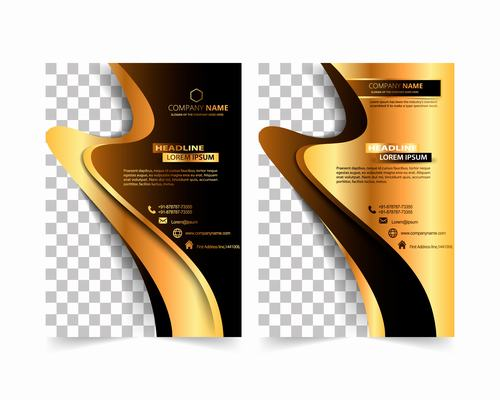 Geometric business cover design vector