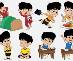 Get up and go to school cartoon vector