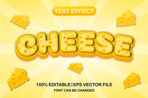 Gheese text font style vector