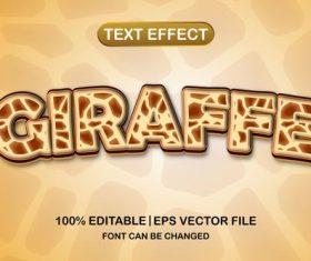 Giraffe text effect vector