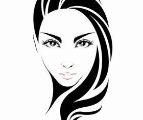 Girl face vector