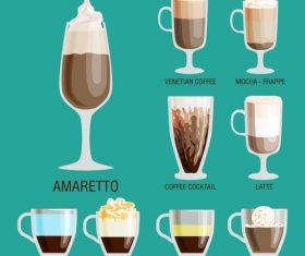 Glace coffee vector