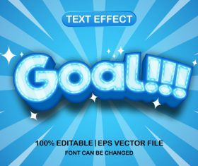 Goal text font style vector