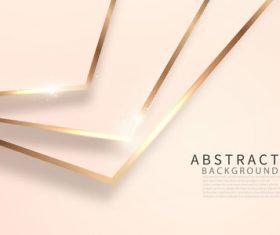 Golden arrow abstract background vector