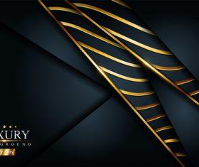 Golden lines composition vector background