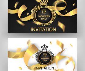 Golden luxury VIP card vector