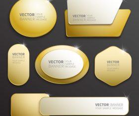 Golden shiny banner vector