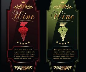 Good quality wine labels vector