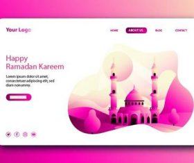 Gradient login website page design vector