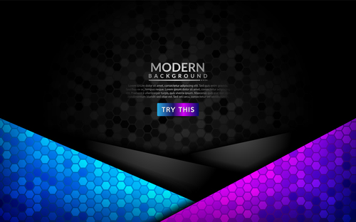 Gradient modern dark background vector