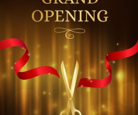 Grand opening vip cards in vector