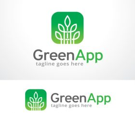 Green App logo vector