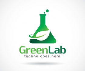 Green Lab logos vector