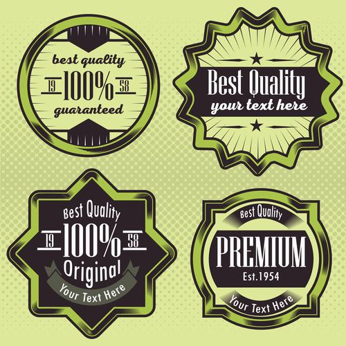 Green business label vector