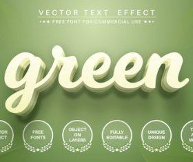 Green vector text effect