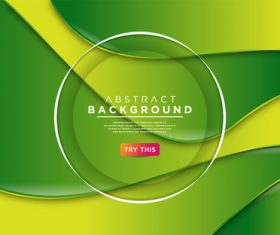 Green yellow abstract background vector