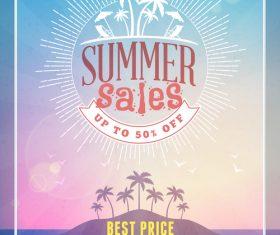 Half price promotional flyer vector
