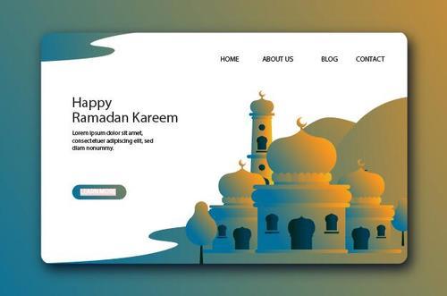 Halftone website page design vector