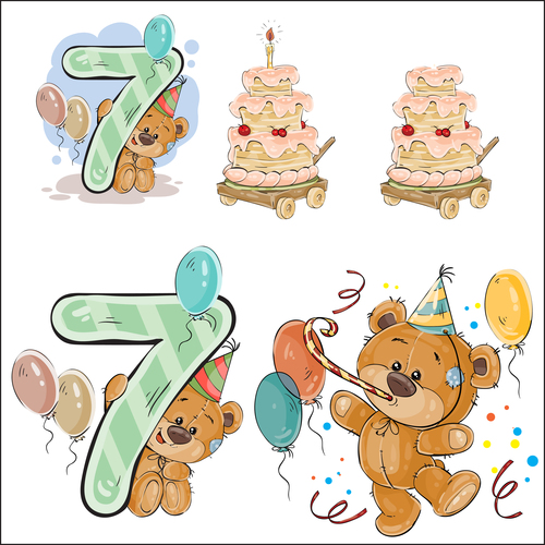 Happy birthday cartoon vector