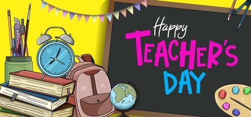 Happy teachers day vector